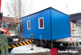Изготовлен мобильный офис 6,3х3,5м