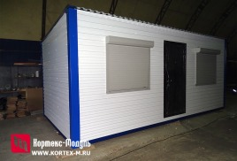 Изготовлен павильон 6х3м 18кв.м