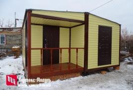 Изготовлен дачный домик 5х5м